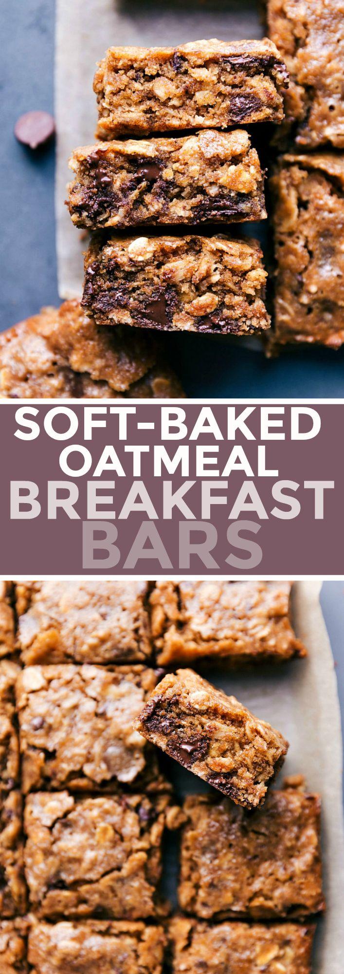 Soft-baked Oatmeal Breakfast Bars