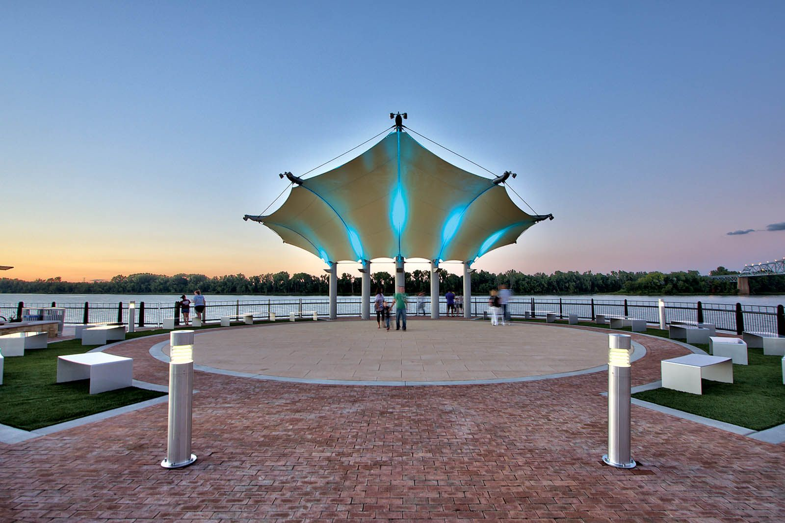 On the water: redevelopment in fabric. Photo: Fabric Architecture Ltd.