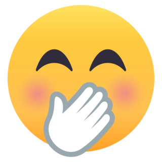 Face With Hand Over Mouth On Emojione 4 0 In 2020 Smile Face Hand Emoji Funny Emoticons
