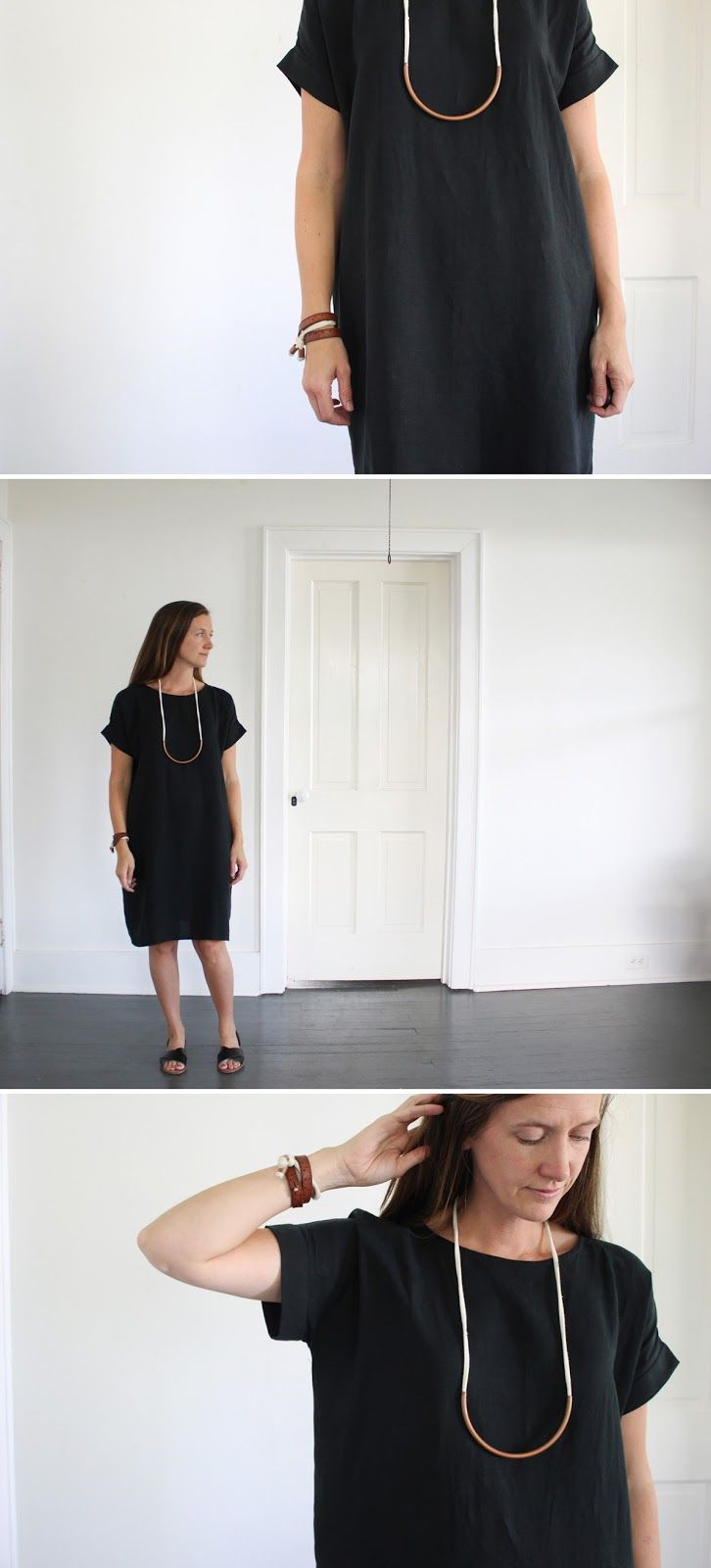 18d51039 Lou Box Top modified into a dress with Cuff Sleeve Tutorial - Pattern by Sew  DIY - Sewn by SweetKM - simple sewing - easy sewing, handmade wardrobe, ...