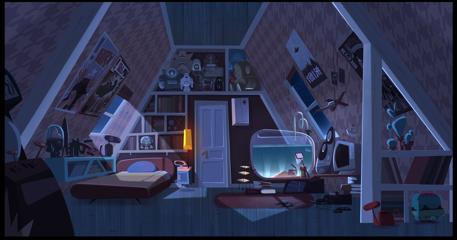 Best Jamie S Got Tentacles Environment Concept Art Night 640 x 480