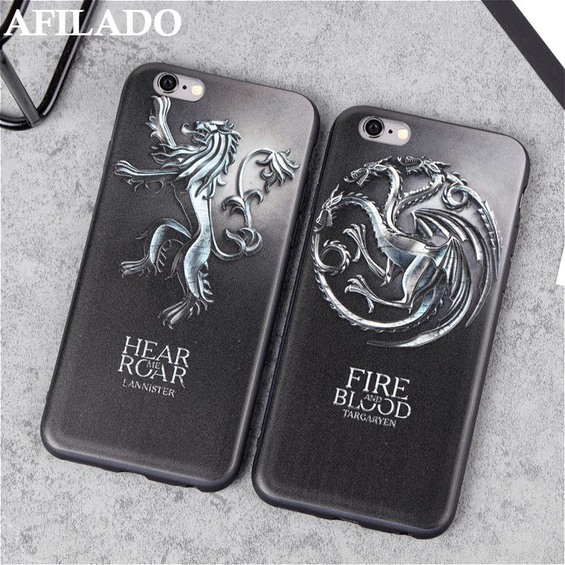 US $2.23] & AFILADO 3D Relief Game of Thrones Dragon Cases for ...