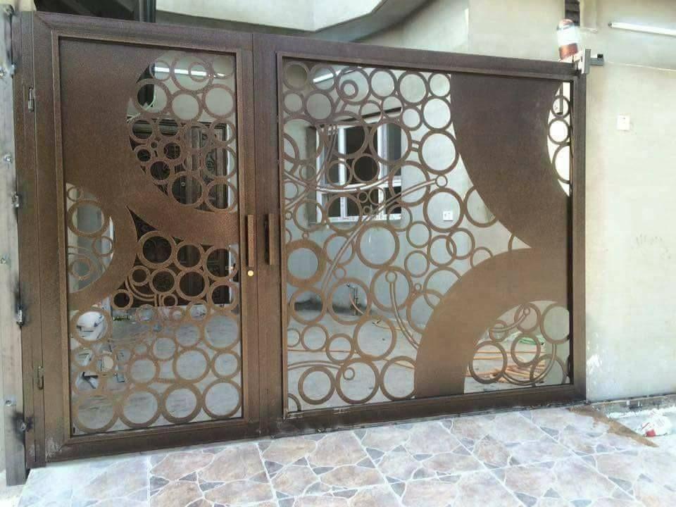 Door تنفيذ ابواب الحديد عادي زخرفه و ليزر الرياض 0530608113 Entry Gates Gate Design Door Gate Design