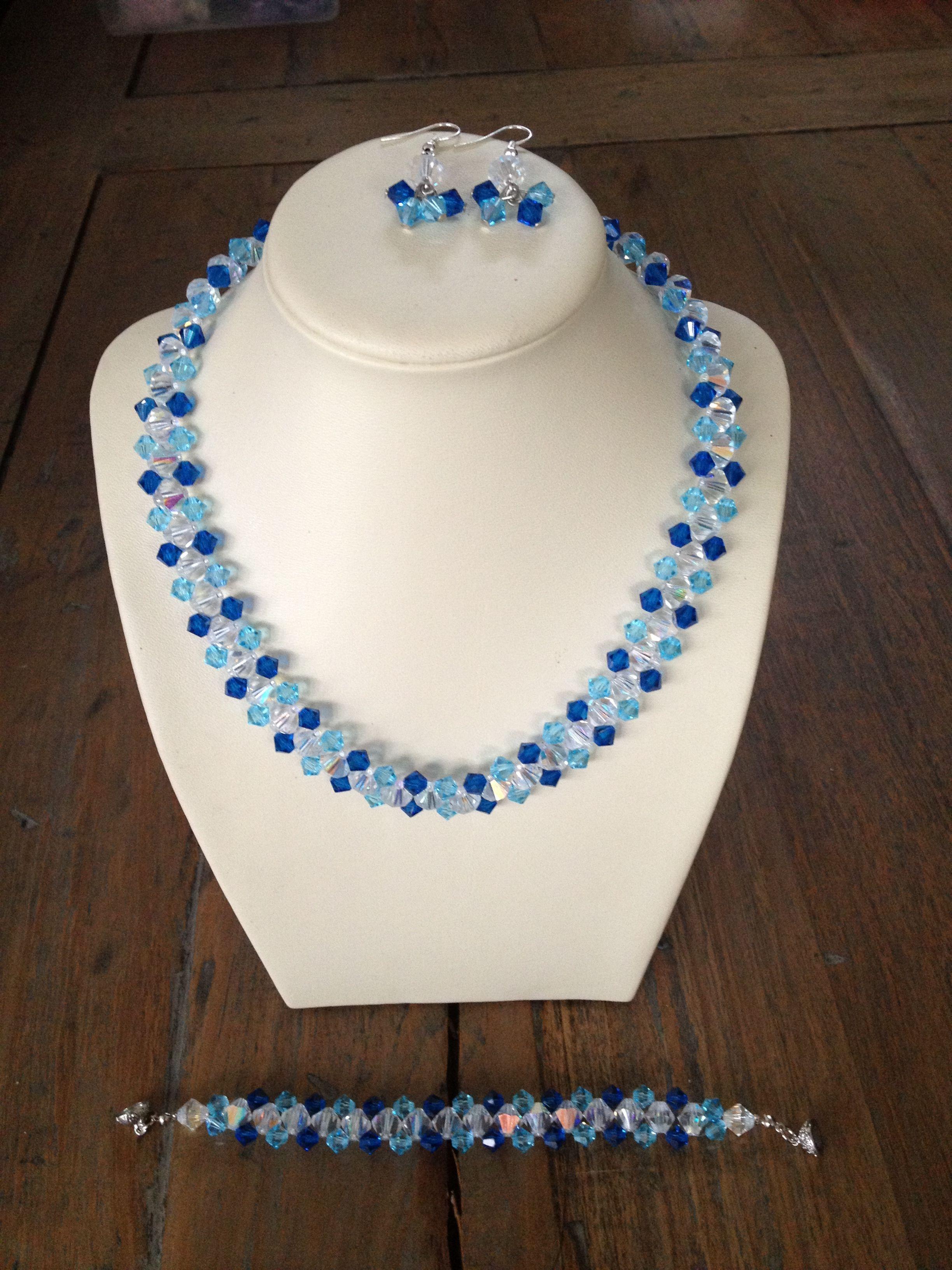 Jewelry set with Swarovski beads