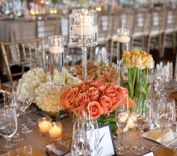 Short Wedding Reception Centerpieces