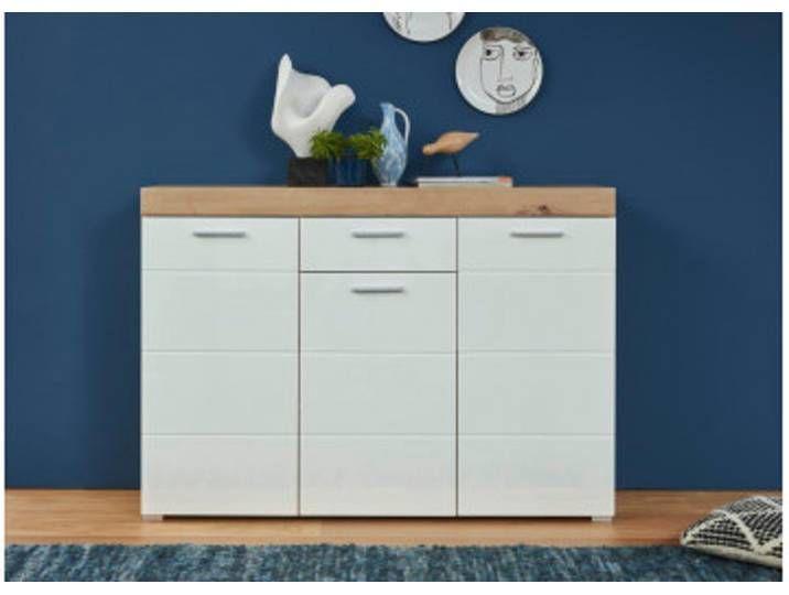 Kommode Amanda Asteiche Nachbildung Weiss Hochglanz 137cm Breit Decor Home Decor Furniture