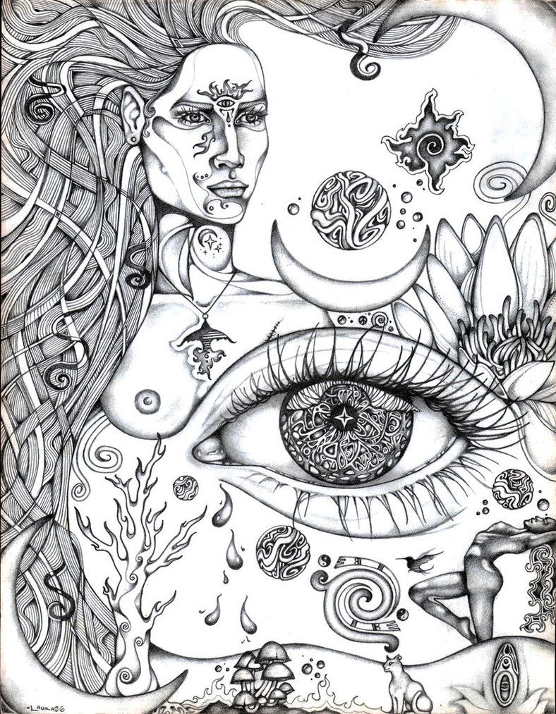Coloring pages eyes - Third Eye Rising By Lauraborealisis On Deviantart