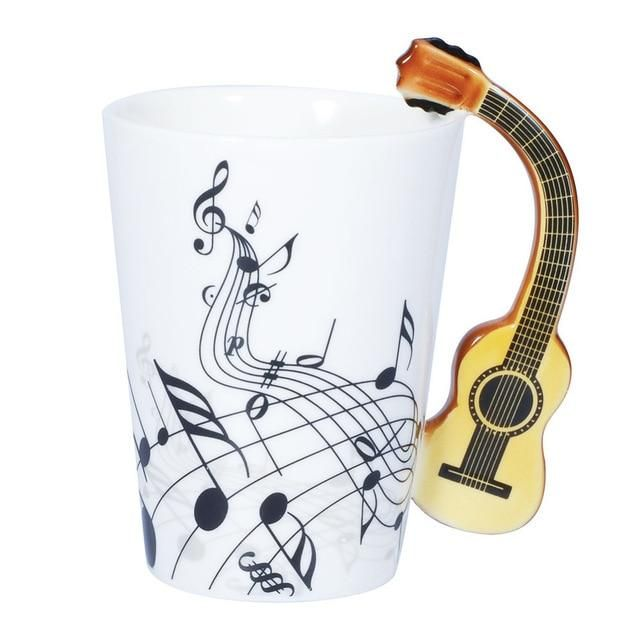 Crazy Music Guitar Mug Our most popular product! Have a look at this Music Guitar Mug! This amazing is perfect for anyone who loves to their guitar! The mug is made from a porcelain and is suitable for any hot 😁😋