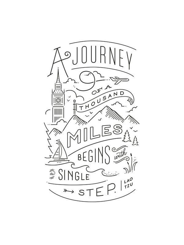 Journey of a thousand miles  Graphic Art Print by Jennifer Wick  Journey of a thousand miles Art Print by Jennifer Wick  Minted