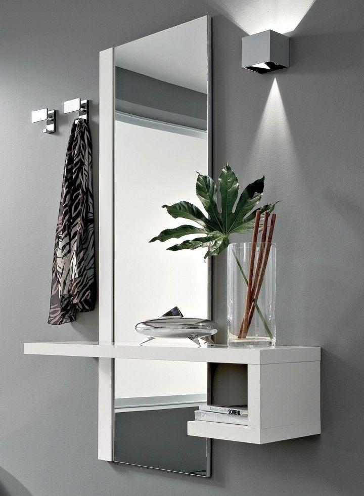Specchio Per Ingresso Moderno.1 Mobile Ingresso Moderno Alba Specchio E Consolle Bianco
