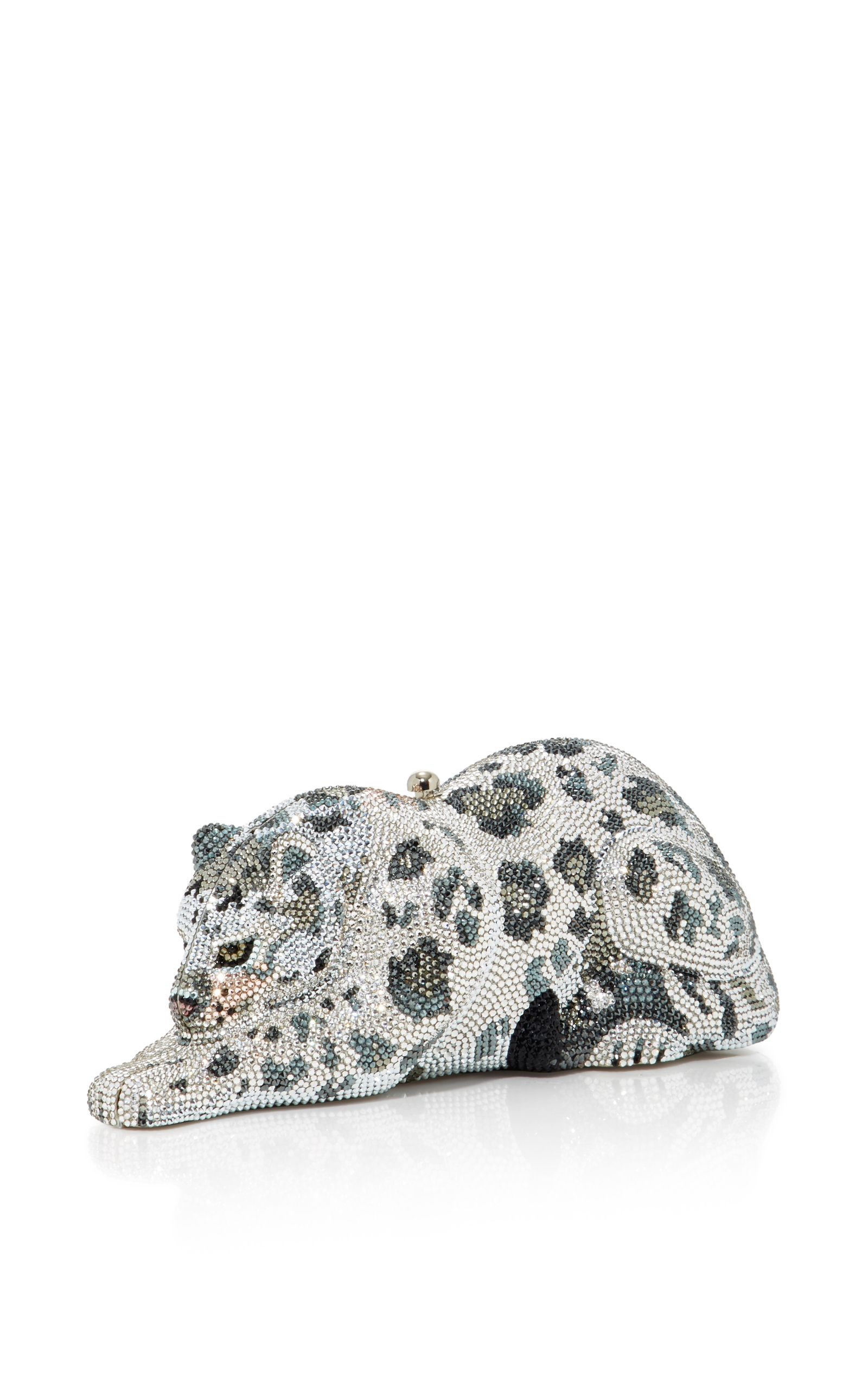 d6897db6daed Snow Leopard Wildcat Clutch by JUDITH LEIBER COUTURE for Preorder on Moda  Operandi