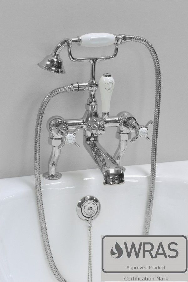 The Cast Iron Bath Company Bath Shower Mixer X Top Chrome 3/4BSP ...