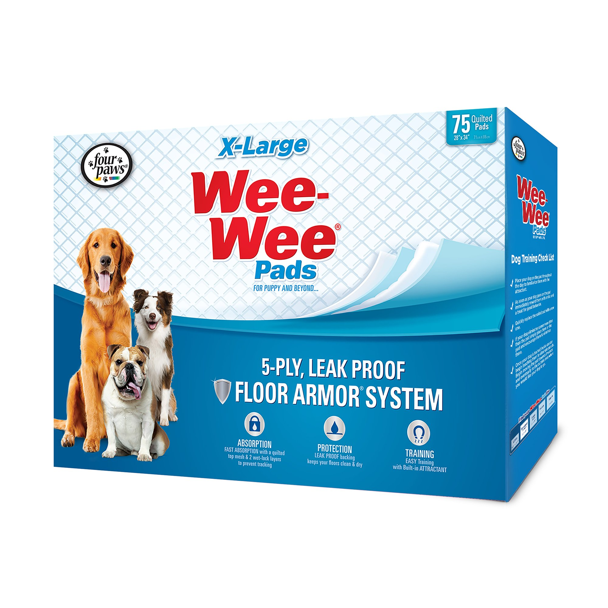 Wee Wee Xl Potty Pads 40 Count X Large Dog Pee Pads Dog