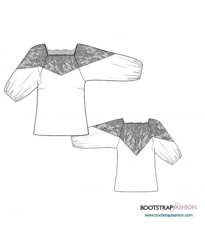 Custom-Fit Sewing Patterns - Blouse With Lace Yoke | A Stitch in ...