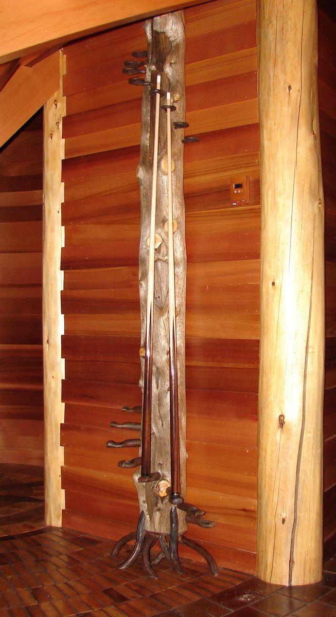 Custom Made Rustic Pool Cue Rack Pool Cue Rack Pool