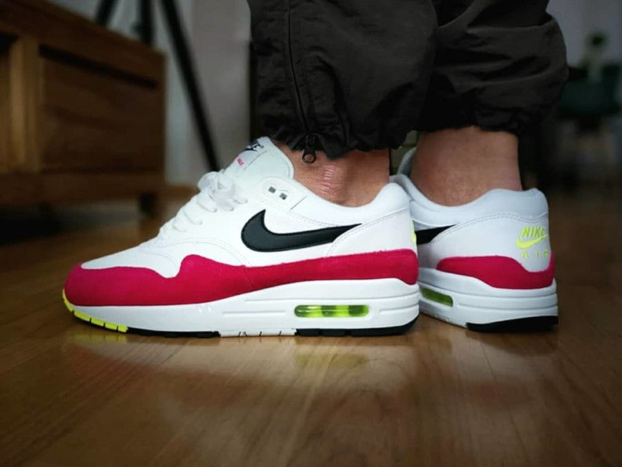 Nike Air Max 1 Rush Pink on feet (2) is part of Nike air max -