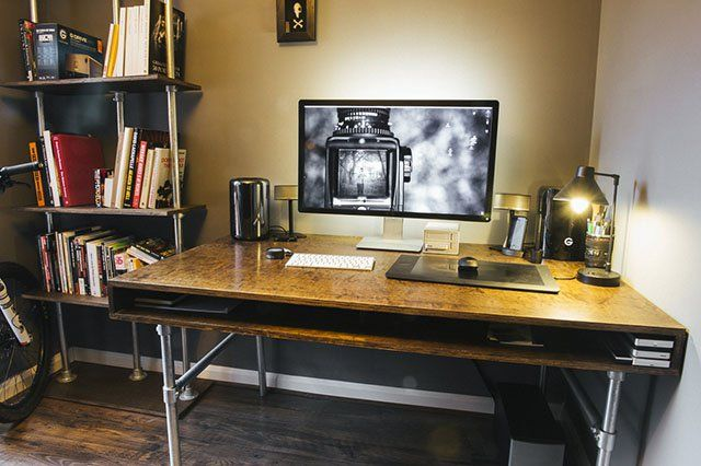 How I Built a Custom Desk and Wire-Free Workspace for My Photo