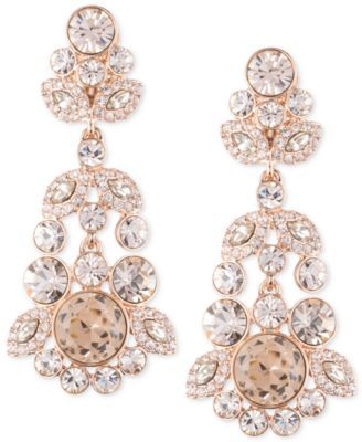 Cast an enchanting glow with these luxurious ornate crystal cast an enchanting glow with these luxurious ornate crystal chandelier earrings designed by givenchy in silver mozeypictures Images