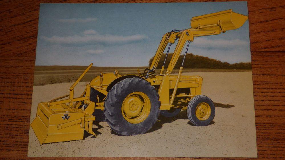 Mf 30b Tractor : Massey ferguson mf work bull utility tractor vintage