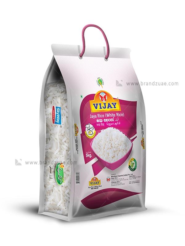 Download Vijay Jaya White Rice Bag Brandz Uae Rice Packaging White Rice Rice Bags