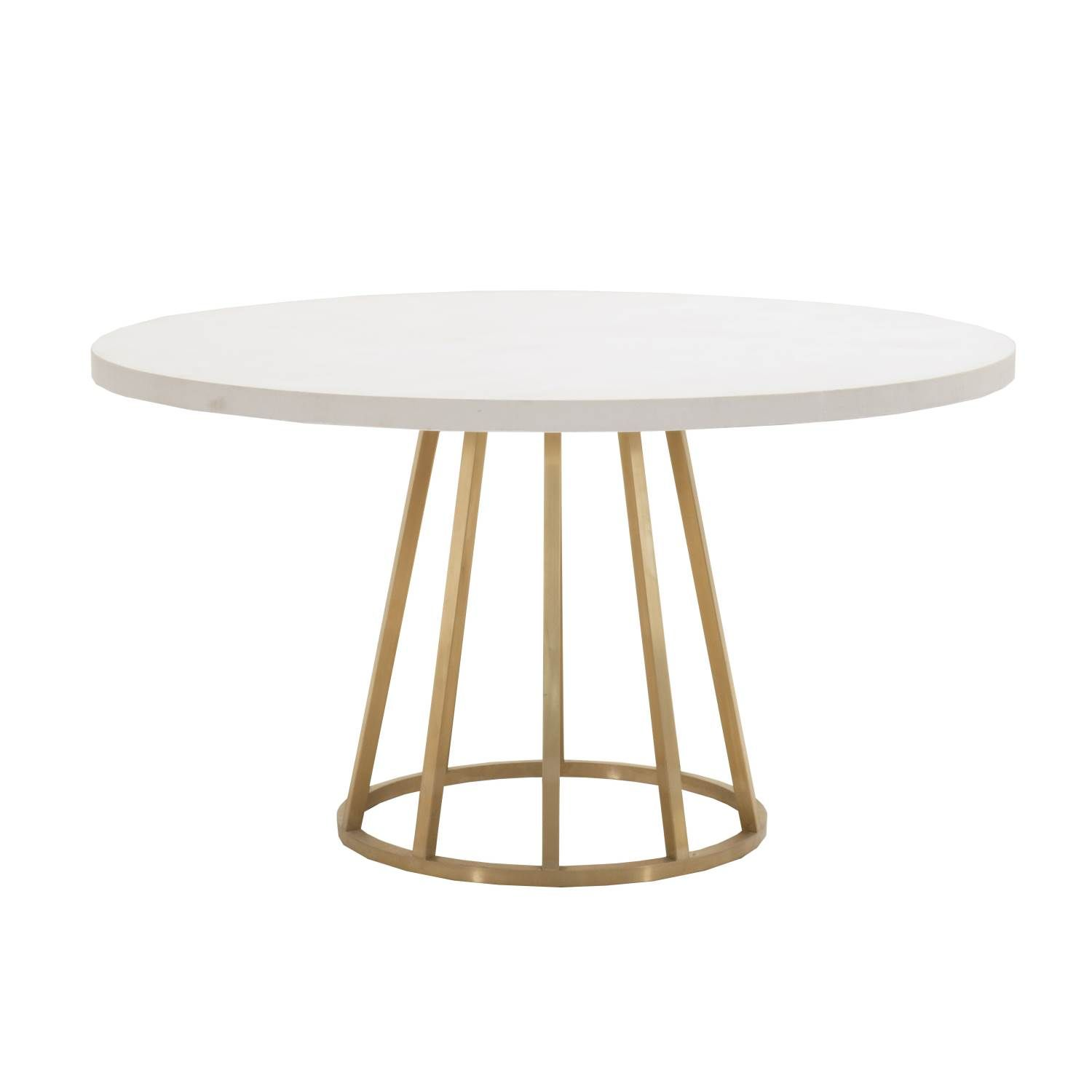 Atlas White Concrete Top Dining Table Shop Dining Tables
