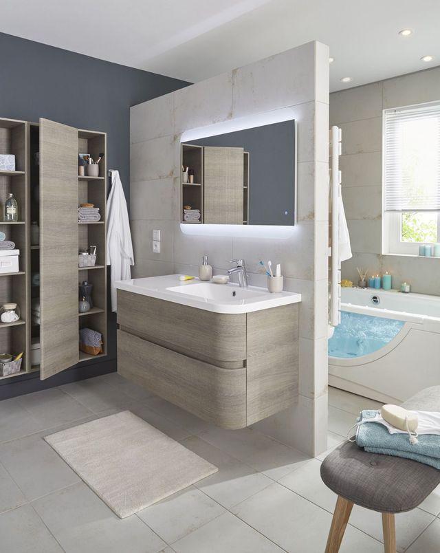 Meuble salle bain bois, design, Ikea, Lapeyre Apartments