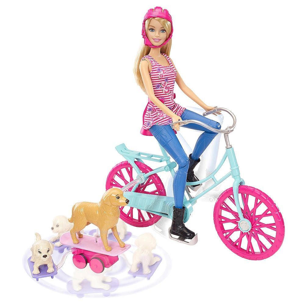 Barbie Bici De Barbie Y Sus Perritos Barbie Juguetes De Barbie Peluches De Animales