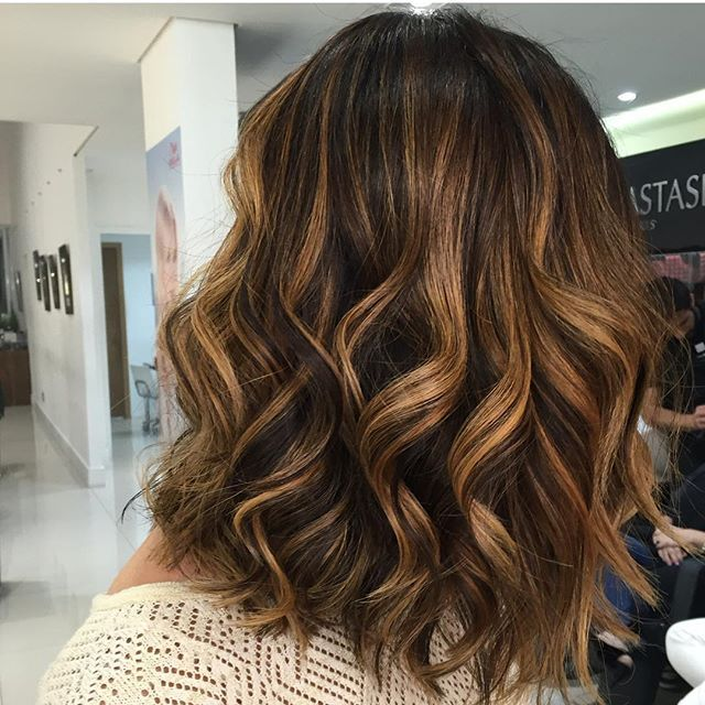Bronze Highlights Ombre Castanho Summer Beauty In