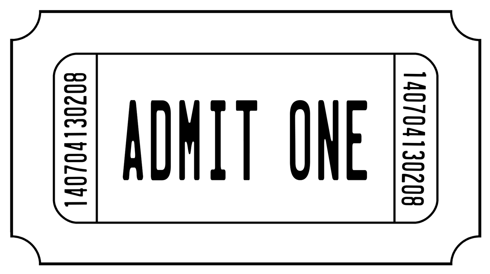 Admit One Ticket Digi Stamp  Digital Stamps    Ticket