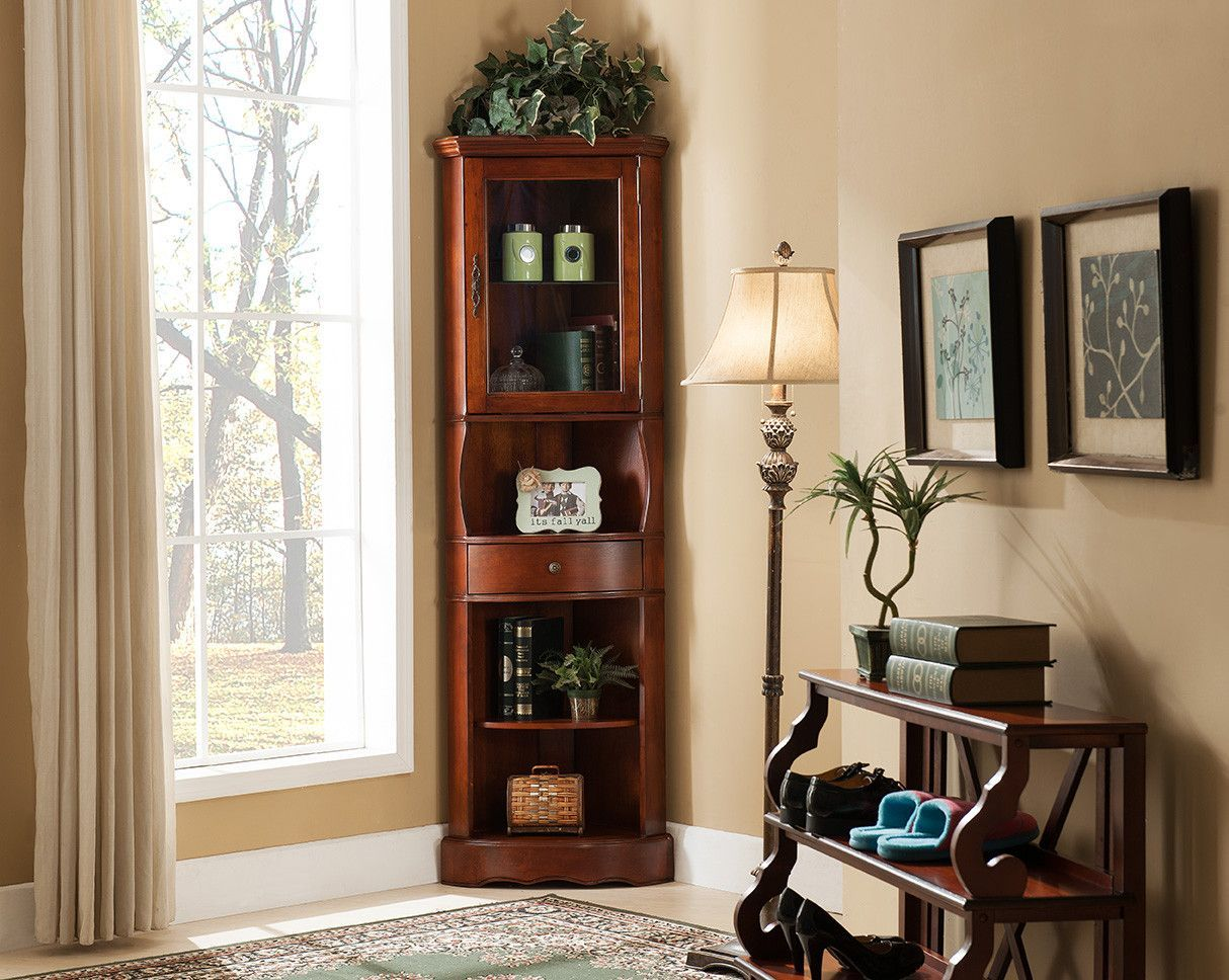 All things cedar corner curio cabinet