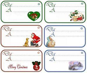 decora i regali con le tags di natale da stampare gratis