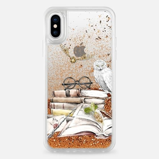 super popular 953f1 39f65 Casetify iPhone X Liquid Glitter Case - Harry Potter | Hufflepuff ...