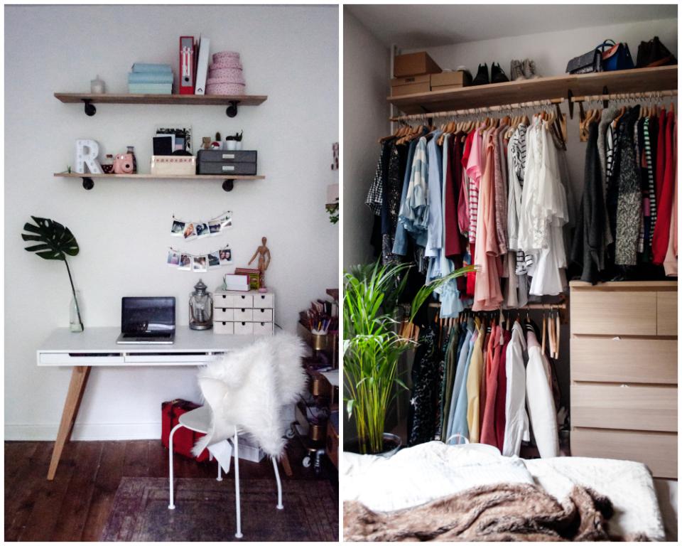 aufbewahrungsideen f r deine sachen zu hause kleiderstange kommode regal kleidung. Black Bedroom Furniture Sets. Home Design Ideas