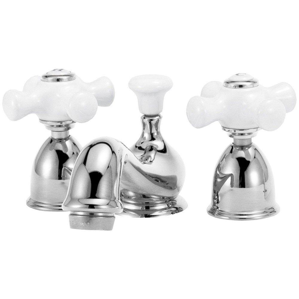 Elizabethan Classics Widespread Lavatory Sink Faucet  Porcelain Prepossessing Porcelain Handle Bathroom Faucet Decorating Design