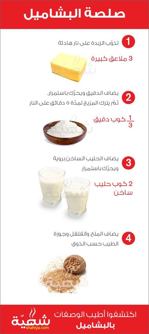 Bechamel Instructographic Howto Shahiya Com Stepbystep Shahiya Com شهية Com شهية Com شهية Cooking Recipes Desserts Diy Food Recipes Arabic Food