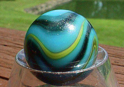 Rare Peltier Blue Galaxy Losing My Marbles Marble