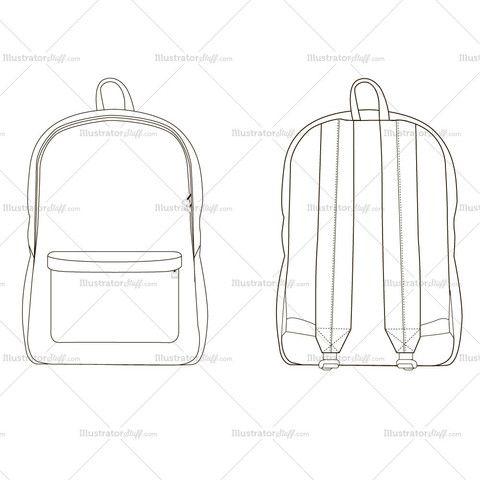 c50954b009 Backpack Fashion Flat Template