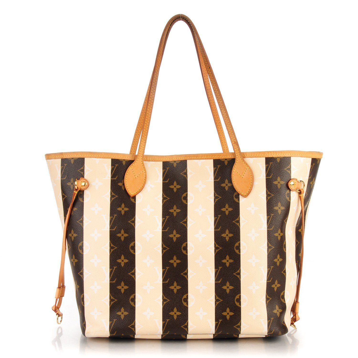 571472f596eab6 This is an authentic LOUIS VUITTON Monogram Rayures Neverfull MM. This chic  tote is finely crafted of Louis Vuitton monogram on brown and beige striped  ...
