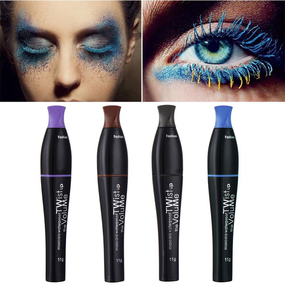 4 Colors Brand Mascara Waterproof Eyelashes Curling Thick Volume