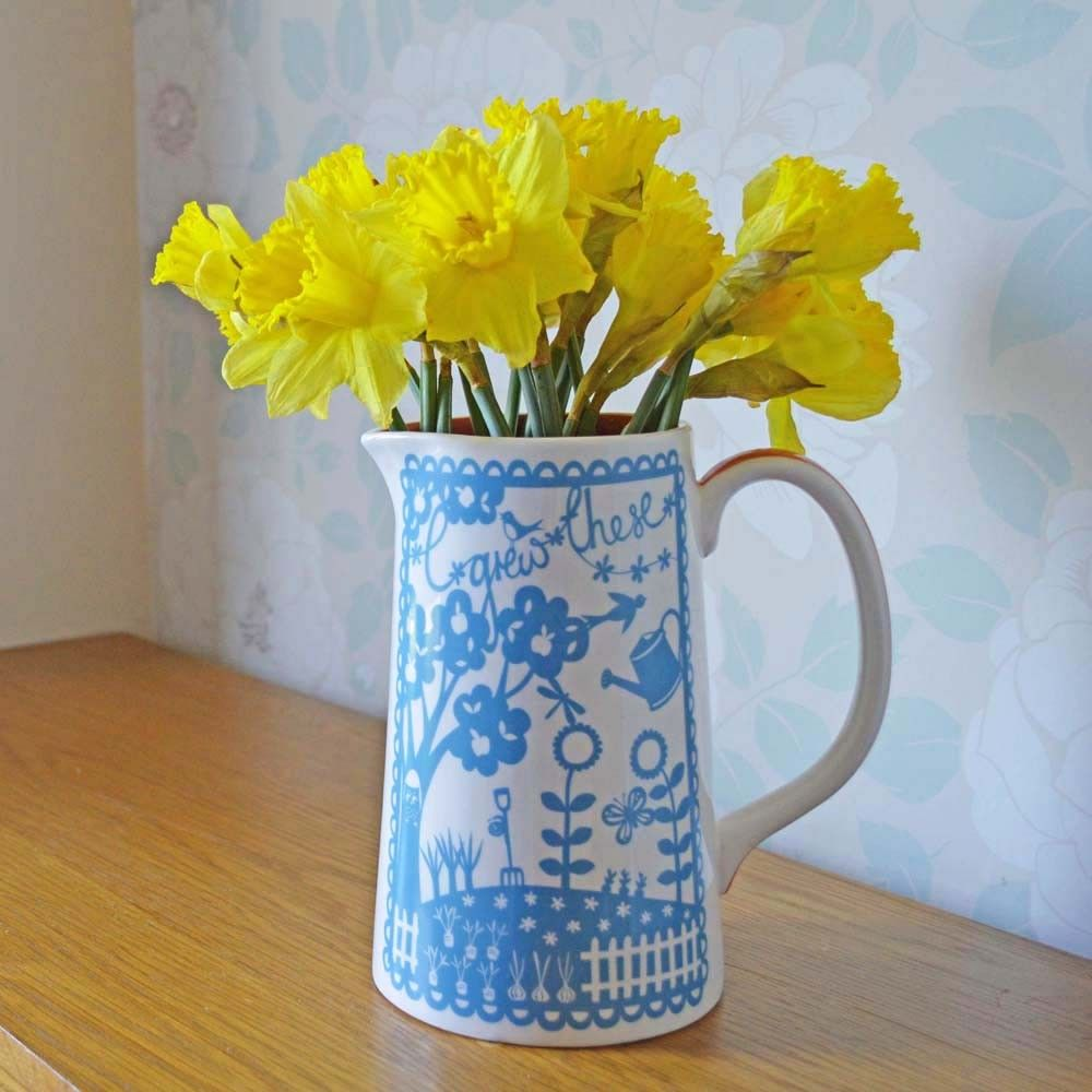 'I Grew These' Glazed Vase