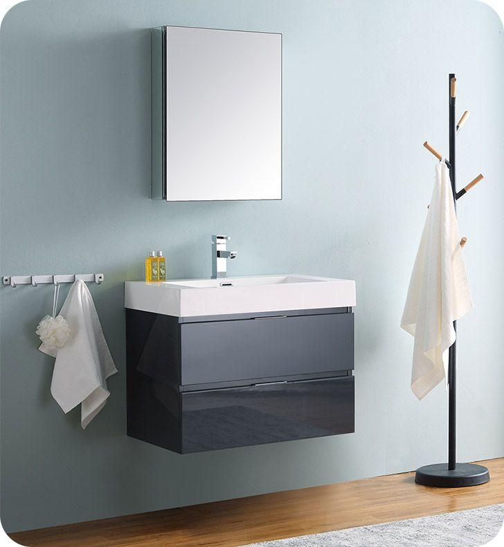 fresca fvn8330gg valencia 30 dark slate gray wall hung modern rh pinterest com