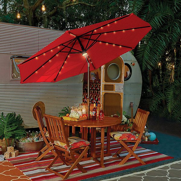 Lighted Umbrella For Patio Custom Improvements 9' Solar Lighted Umbrella  Pine Green 375 Sar Inspiration Design