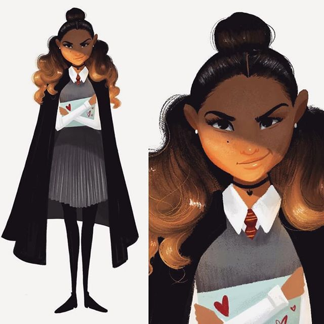 I Did The Harrypotter Cdchallenge And My Romilda Vane Came Out Accidentally Looking Like Zendaya Blackgirl Zendaya Instagram Design Challenges