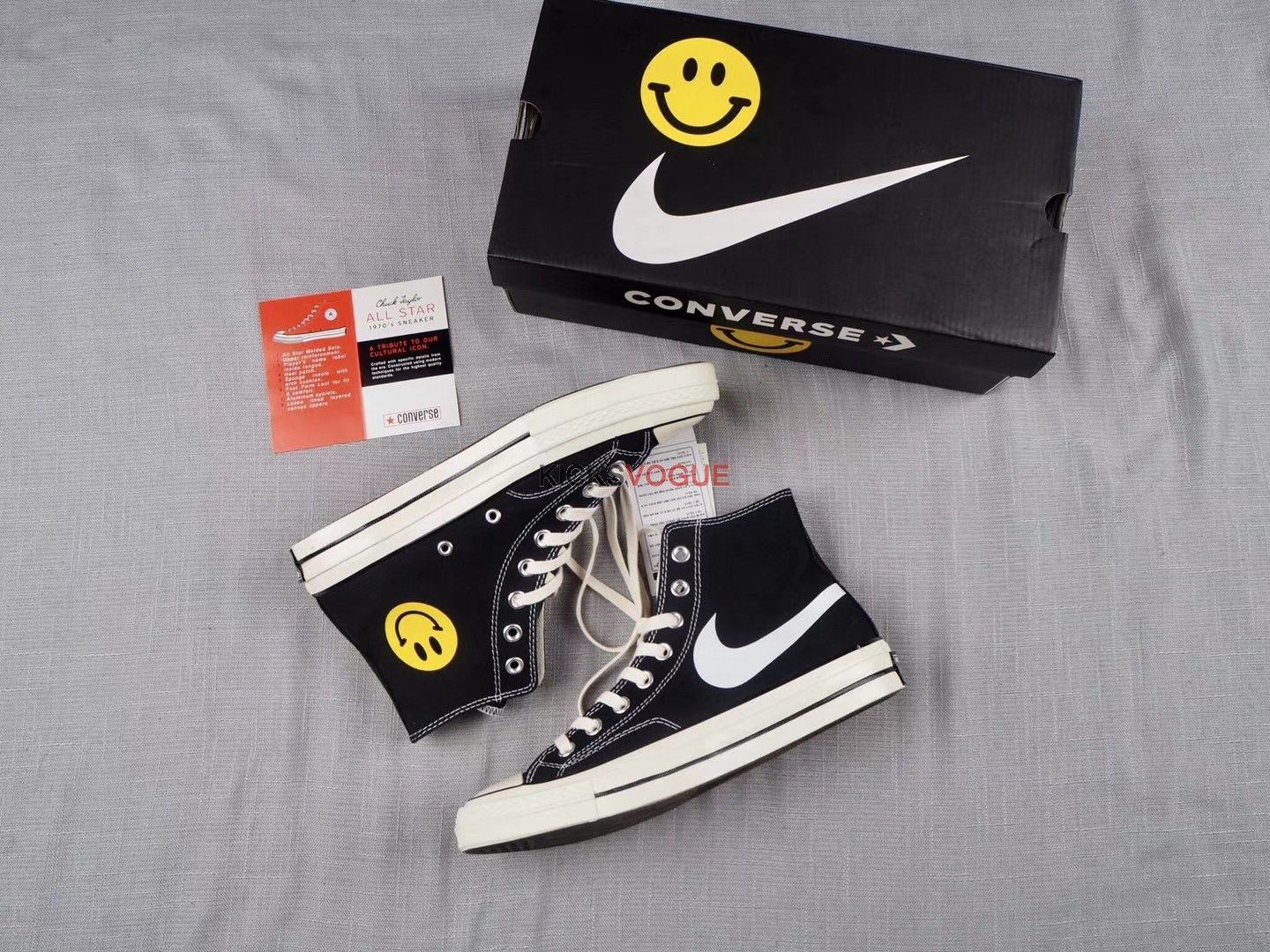 af2bbb255573 Converse Smiley Face Nike Swoosh 1970 s by Chinatown Market