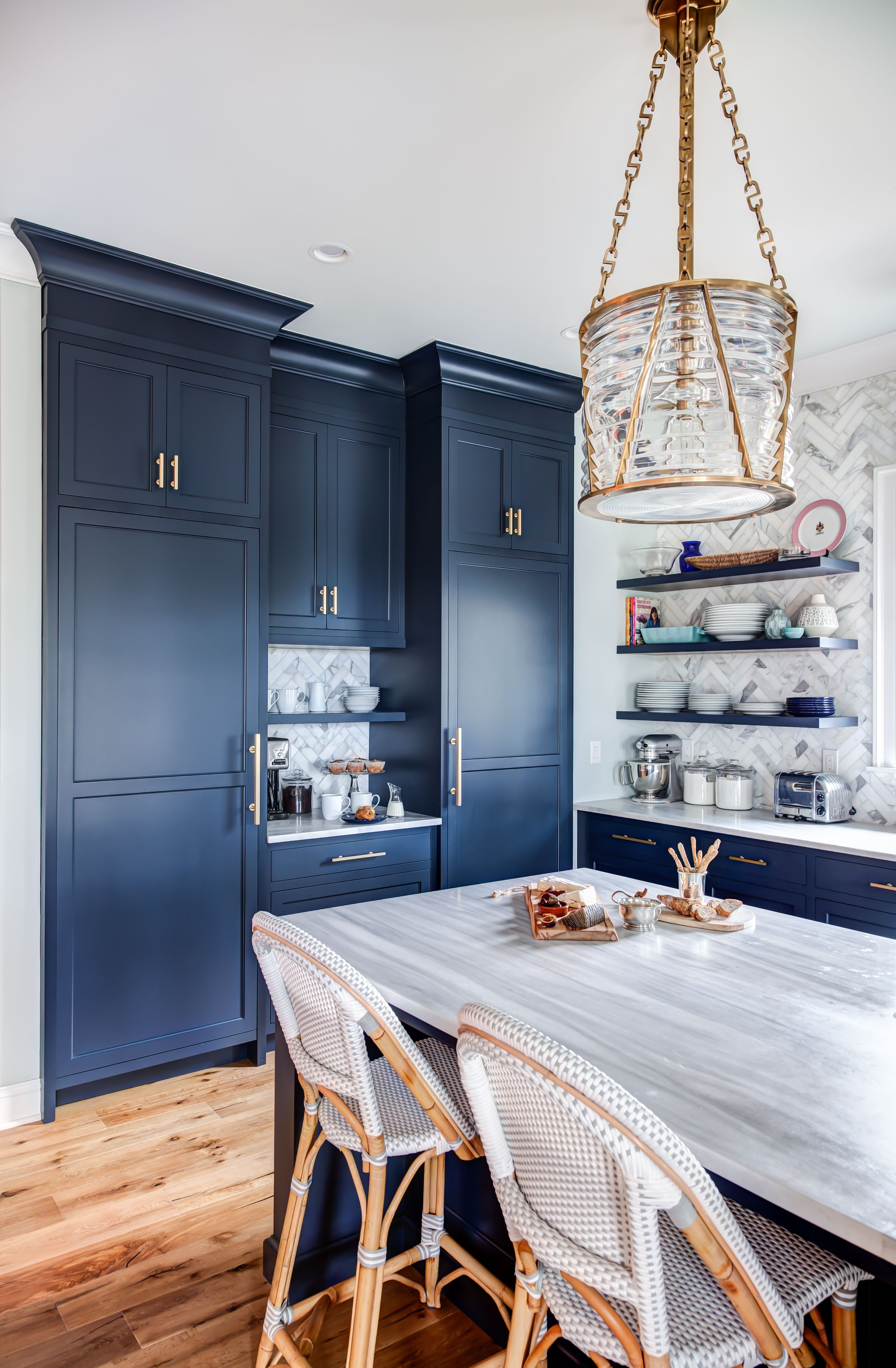 Navy Blue Floor To Ceiling Cabinets With Wood Floors Kitchen Trends Floor To Ceiling Cabinets Home