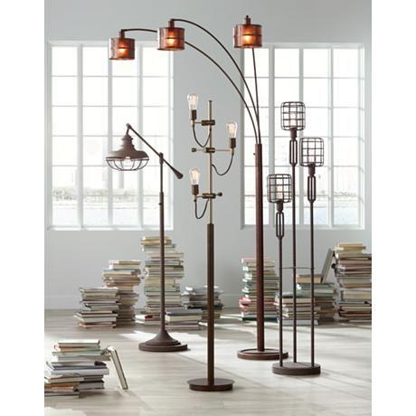 Franklin Iron Works Henning 3 Light Edison Tree Floor Lamp 8w834 Lamps Plus In 2020 Tree Floor Lamp Cool Floor Lamps Modern Floor Lamp Design