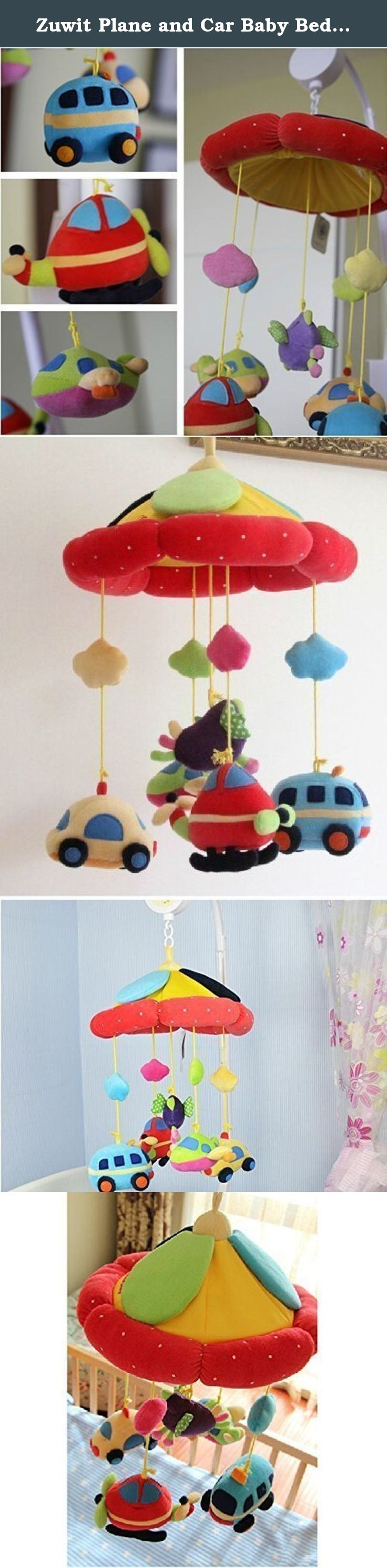 Best crib toys your baby - Zuwit Plane And Car Baby Bed Crib Musical Mobile Rotating Nursery Bell Electric Music Box 12