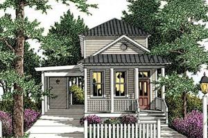 Cottage Exterior - Front Elevation Plan #406-258 - Houseplans.com