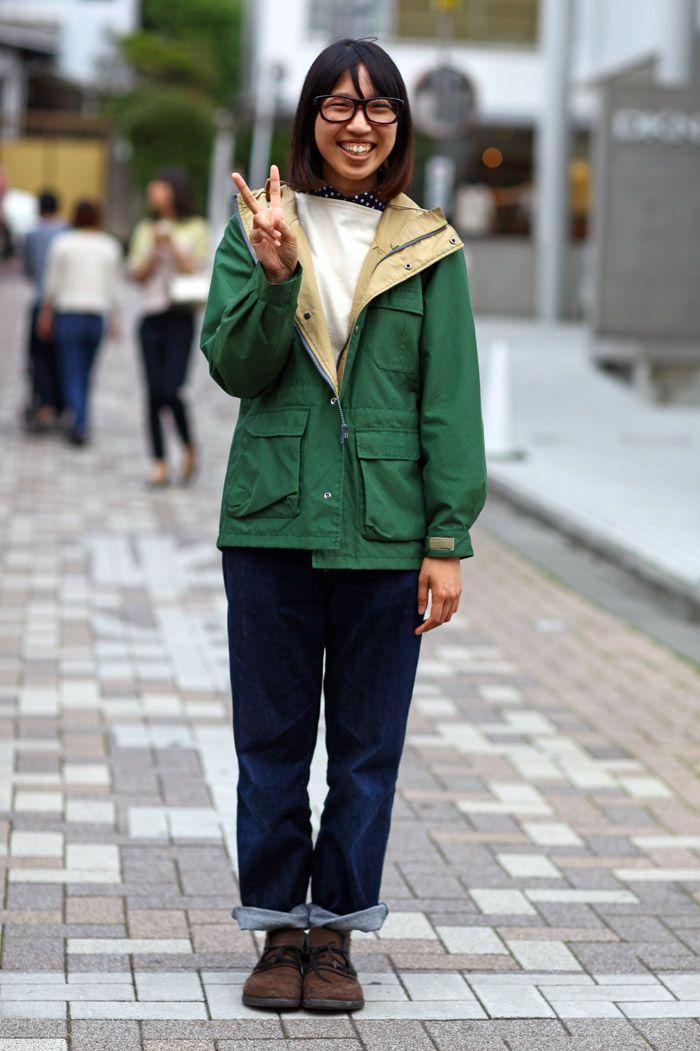 Green Jacket, Peace | Street Fashion | Street Peeper | Global Street Fashion and Street Style