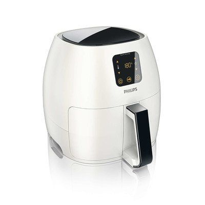 Philips HD9240/34 Airfryer Avance, X-Large, White  Philips HD9240/34 Airfryer Avance, X-Large, White With the Philips Airfryer, you can eat healthier without giving up the taste and texture of your favorite foods. The Airfryer features unique Rapid Air Technology that circulates hot air with speed and precision for faster cooking and perfect results with less oil. Using the digital touch screen interface you can adjust the temperature up to 390 degrees, use the smart preset button to..